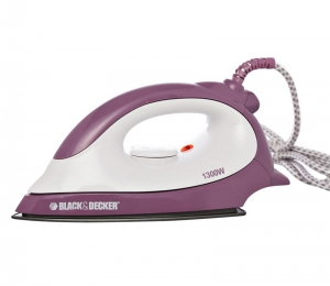 Black & Decker Dry Iron - 1300 Watts