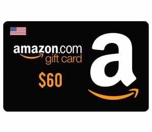 Amazon $60 Digital Gift Card (US)
