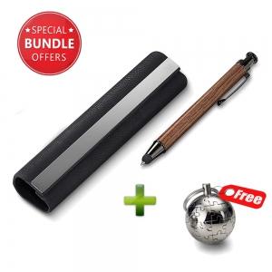 Philippi Doux Stylus & Pen Black + Puzzle Globe Keychain