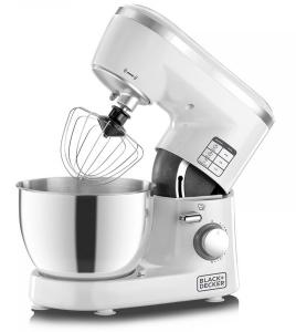 Black & Decker 1000W Stand Mixer White/Silver - SM1000-B5