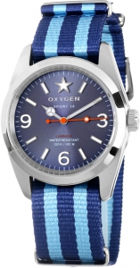 Oxygen EX-S-BOS-38 Sport Boston Watch Blue /Light Blue