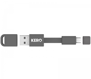 Kero Nomad Micro USB to USB 2.0 Key Ring Cable - Grey