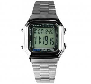 Casio Sports Mens Silver Tone Watch - A178WA-1ADF