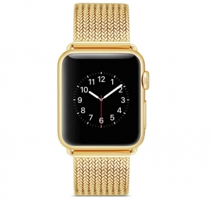 Generic Stainless Steel Milanese Loop Apple Watch Band Strap - Gold