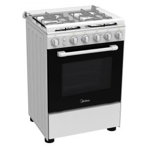Midea 4 Gas Burner 60X60 Cm Gas Cooker - White