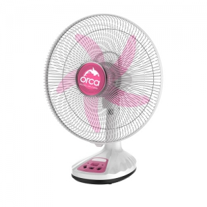Orca 16 Inch Rechargeable Table Fan - Red