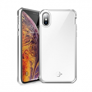 Itskins Hybrid Glass Case Anti Shock for Iphone X / XS - Silver