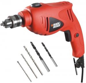 Black And Decker 500W Single Speed Hammer Drill Kit - HD5010A5-B5