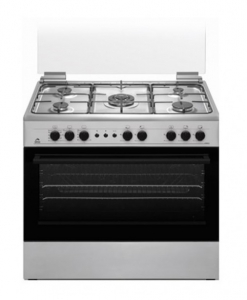 Orca 5 Burner Gas Cooker 90X60 CM - Silver