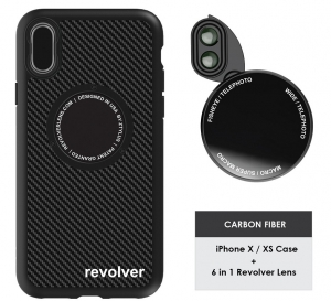 Ztylus Magnetic 6 in 1 Revolver Lens Kit With iPhone X / Xs Case