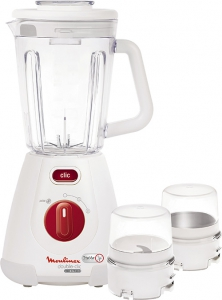 Moulinex Double Clic Blender with Maxi Glass Jar - LM233A