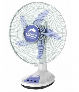 Orca 14 Inch Rechargeable Table Fan - Blue