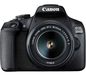 Canon EOS 2000D DSLR Camera, EF-S 18-55 mm f/3.5-5.6 Lens