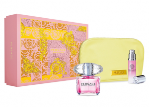 Versace Bright Crystal Women Set EDT  90ml+ 10ml Mini+ Bag