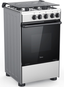 Midea 50 x 55 cm Gas Cooker with Full Safety - Silver