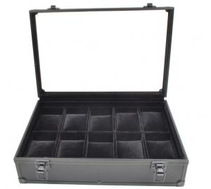 Black Aluminum Watch Box - 10 Slots