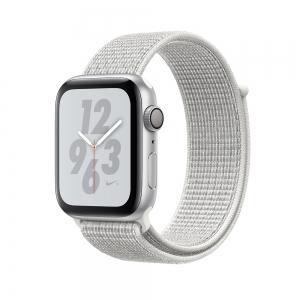 Apple Watch Nike + Series 4 (GPS) 40mm Silver Aluminum Case with Summit White Nike Sport Loop