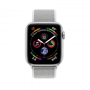 Apple Watch Series 4 44mm Silver Aluminum Case with Seashell Sport Loop
