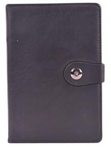 Black Faux Leather Diary Journal Notebook Planner