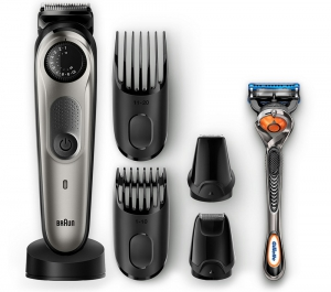 Braun BT 7040 Beard Trimmer & Hair Clipper Black/Grey + FREE Gillette Fusion5 ProGlide Razor