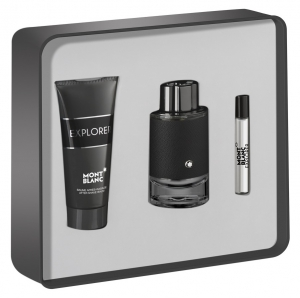Mont Blanc Explorer 3pc Perfume Set For Men (EDP100ML+Mini 7.5ML+After Shave 100ML)