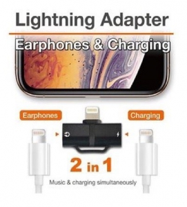 Dausen Lightning Adapter Earphones & Charging - 8997