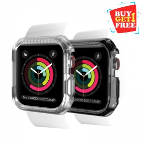 Itskins Spectrum Bumpur Case For Apple Watch Series 4 - 44 Mm Smoke + Clear 2 Pcs (BUY 1 GET 1 FREE)