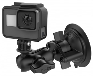 RAM Mounts Twist-Lock Suction Cup Mount with Universal Action Camera Adapter