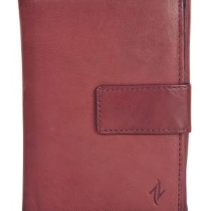 Zunash Ladies leather Zipper Wallet- Black