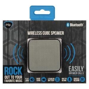 iHip Bluetooth Wireless Cube Speaker - Black