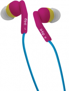 iHip Fashionable Color In-Ear Stereo Headphones - Passion