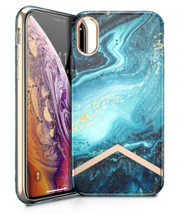 Itskins Avana Series Case Anti Shock Up to 2 Mtr for iPhone Xs - Spring / Summer & Gold