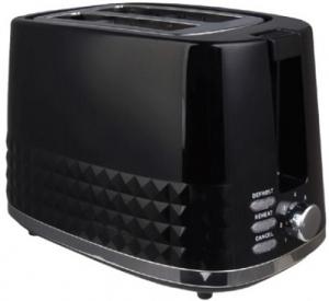Orca 2 Slice Toaster Plastic - Black