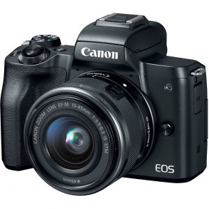 Canon EOS M50 Mirror-less Digital Camera With 15-45 mm Lens - Black