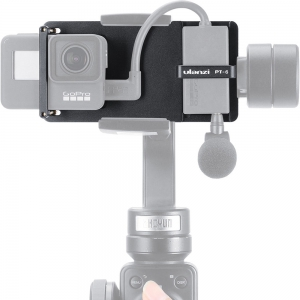 DigitalFoto Solution Limited GoPro Vlog Plate with Mic Adapter for Smartphone 3-Axis Gimbal
