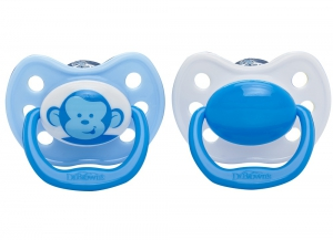 Dr. Brown's Ortho Pacifiers - Stage 3 12+Months Blue Monkey