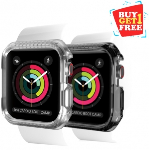 Itskins Spectrum Bumpur Case For Apple Watch Series 4 - 40mm Smoke + Clear 2 Pcs (BUY 1 GET 1 FREE)