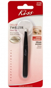 Kiss Premium Precision Tweezers - Slant Tip