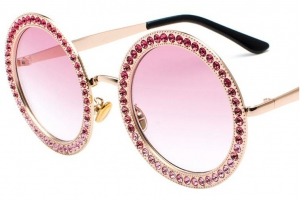 Habaat Rounded Sunglasses with Diamonds
