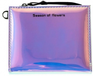 Honey Accessories Hologram Short Zipper Leather Clutch Wallets Handbag
