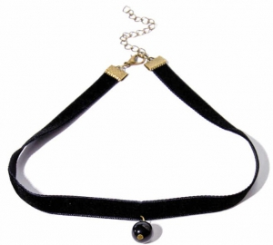 Honey Accessories Black Leather Lace Choker Necklace
