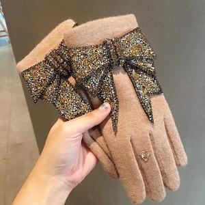 Honey Accessories Luxury Women Gloves - Beige