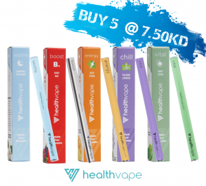 Healthvape Energy Supplement - Vitamin Inhaler ( OFFER - Buy 5 for KD 7.50 )