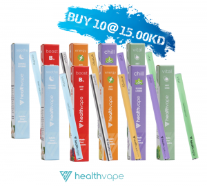 Healthvape Energy Supplement - Vitamin Inhaler (OFFER - Buy10 for KD 15.00 )