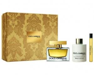 Dolce & Gabbana The One Eau de Parfum 75ml Gift Set (75ml EDP, 100ml Body Lotion + 10ml Purse Spray)