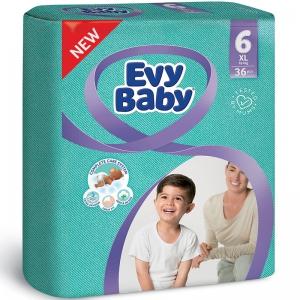 Evy Baby Newborn Baby Diaper - 36 Pcs, Size 6 XL
