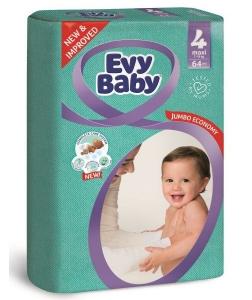 Evy Baby Newborn Baby Diaper - 64 Pcs, Size 4 Maxi