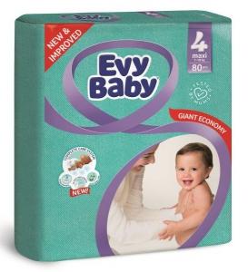 Evy Baby Newborn Baby Diaper - 80 Pcs, Size 4 Maxi