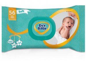 Evy Baby Soft Baby Wipes 56
