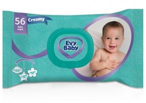 Evy Baby Creamy Baby Wipes 56